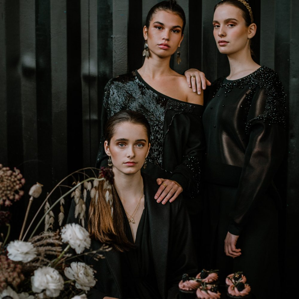 Modellen Doeschka, Indi en Naira bij de StyledShoot
